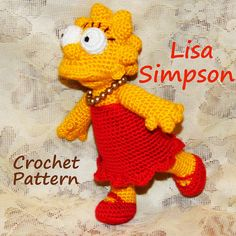 Crochet Pattern. Lisa Simpson von InspiredCrochetToys auf Etsy, $8.00