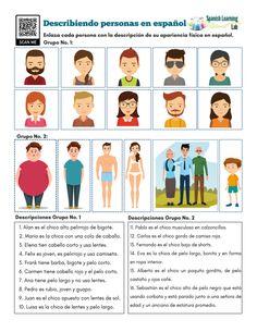 Describing People in Spanish - PDF Worksheet - SpanishLearningLab