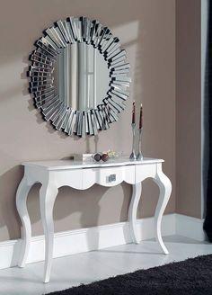 Vi ønsker deg en strålende ettermiddag☀️ www. Interior Design Living Room, Interior Decorating, Home Decor Furniture, Entryway Tables, Sweet Home, New Homes, Smileys, Wall Mirror, Interiors