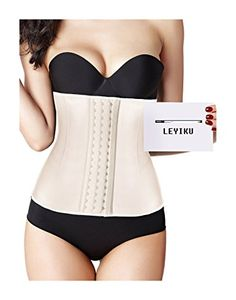 f4a35428199ff Amazon.com  LEYIKU Women s Latex Underbust Waist Training Corset Waist  Shaper for Weight Loss  Clothing