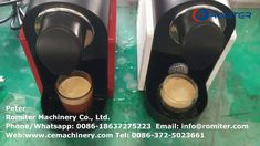 Automatic Nespresso Compatible Capsules Brewing Making Machine from Chin... Packing Machine, Nespresso, Brewing, China, Coffee, Kaffee, Cup Of Coffee, Porcelain