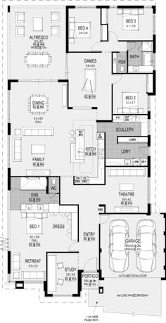 Needs some changes thp Washington Platinum floorplan : Nice! Needs some changes thp Washington Platinum floorplan 4 Bedroom House Plans, New House Plans, Dream House Plans, Modern House Plans, House Floor Plans, My Dream Home, Home Design Floor Plans, Plan Design, Building Plans
