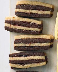 Chocolate pecan layered icebox cookies from Martha Stewart