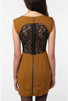 Mesh Back Dress, Urban Outfitters