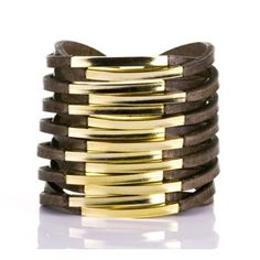 Twisted Leather Cuff - Lionesque Style