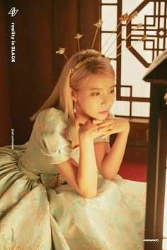 Why Mamamoo is empowering women:Solar: Her character is a princess/queen but she doesn't behave like we would picture someone royal. At the end of the teaser, she ripped off her dress and wore pants. Kpop Girl Groups, Korean Girl Groups, Kpop Girls, K Pop, Kpop Wallpaper, Wheein Mamamoo, Solar Mamamoo, Maker, Soyeon