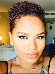 Short Natural Hairstyles On Pinterest