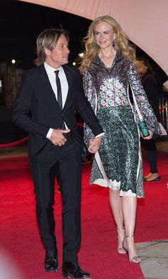 """April 16, 2016: Coupled up! Keith Urban kept his wife Nicole Kidman close during the premiere of her new film The Family Fang at the Tribeca Film Festival in NYC. The actress told reporters including HELLO! that, """"To play brother and sister with Jason [Bateman in the movie] was really appealing, to play his big sister and be able to beat him up."""""""