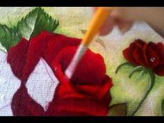 Continuando A Pintura Das Folhas E Rosas - YouTube