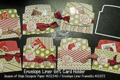 Quick and Easy Gift Card Holder with Envelope Liner Framelits
