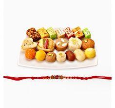 Assorted Sweets with Rakhi