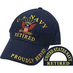 "U.S. Navy Retired ""Proudly Served"" Baseball Cap - Meach's Military Memorabilia & More"
