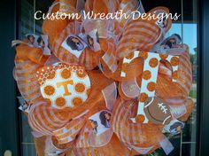 Deco Mesh Tennessee Vols Mesh Wreath by lilmaddydesigns on Etsy, $85.00