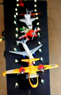 Make your own cardboard airport runway with your kids! #kids #estella #decor