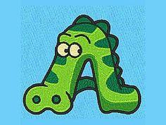 DD Animal Alphabet Machine Embroidery Designs  http://www.designsbysick.com/details/ddanimalalphabet