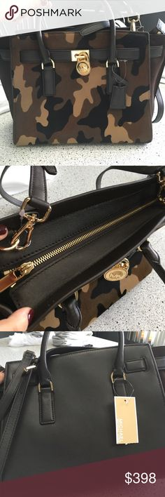 BRAND NEW Michael Kors Camo Tote Handbag NEW. NEVER WORN. My ex boyfriend bought this for me and I never wore it because we broke up! I don't want it! Somebody please buy it's a nice bag!!!!!! I just can't wear it. Michael Kors Bags Totes