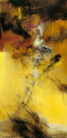 ZAO Wou-ki (Chinese-French, b. 1921)  5.12.1969    1969    Oil on canvas    194(L) x 96(W) cm    Signed lower right Wou-ki in Chinese and ZAO in French
