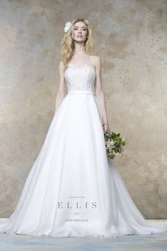 "#wedding dress 2016 from Ellis Bridals ""Magnolia"" #bridal collection 