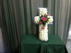 Massed funeral cross.