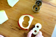 Fun with snack-time - apples slicer, apple peeler/corer and cookie cutters