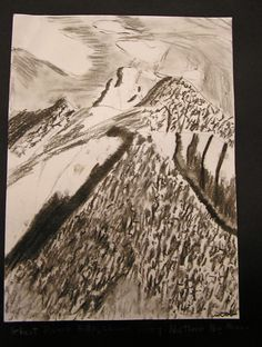 P. C. K. C .S. Art Room in Middle School: Charcoal Landscapes ala Ansel Adams