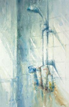 Art Of Watercolor: Janine Gallizia. Watercolor Fruit, Watercolor Artwork, Watercolor And Ink, Photography Illustration, Art Photography, Artist Point, Australian Painting, Art Oil, Abstract