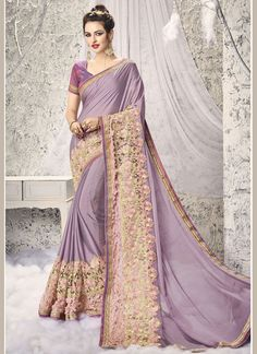 Buy Exciting Patch Border Work Net Half N Half Saree #sarees #saree #sari #designersaree #sareebuzzlove #sareebuzz #weddingsarees #weddingfashion