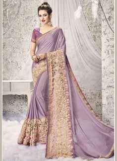 Buy Exciting Patch Border Work Net Half N Half Saree #sarees #saree #sari #designersaree #sareebuzzlove #sareebuzz #weddingsarees #weddingfashion