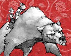 Rose red and snow white with bear