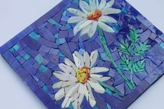 For Becky only custom order Wild Daisies Mosaic Mosaic Projects, Mosaic Ideas, Stone Mosaic, Mosaic Art, Painted Pavers, Mosaic Flowers, Mosaic Pieces, Marquetry, Pyrography