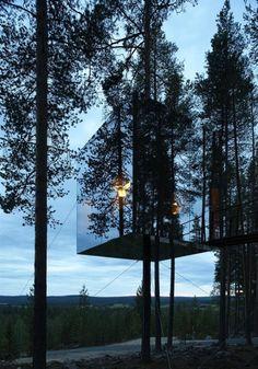 Mirrorcube Treehotel, designed by Tham & Videgard Arkitekter, Harads/Sweden