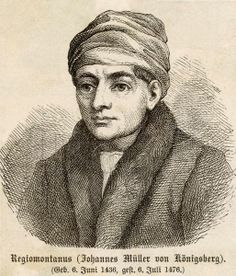 German mathematician, astronomer, astrologer, and instrument maker Johannes Müller was better known under the Latinized version of his name as Regiomontanus