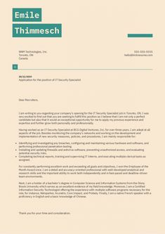 printable it security specialist cover letter sample  kickresume cover letter template for security job doc Cover Letter Sample, Cover Letter Template, Letter Templates, Very Excited, How To Find Out, Believe, Printable, Positivity, Letters