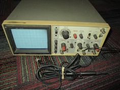 HITACHI 35MHz DUAL CHANNEL OSCILLOSCOPE V-355 WITH 2 PROBES, GUC READY TO GO…
