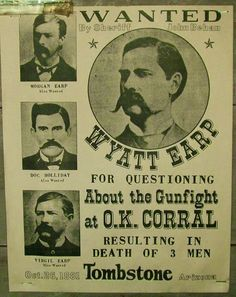 """Who were the bad guys at the OK Corral, Wyatt Earp, his brothers and Doc Holliday, or the """"cowboys"""" who were killed? Author Jeff Guinn tells us. Old West Outlaws, Westerns, Old West Photos, American History, Us History, Asian History, Strange History, Tudor History, British History"""