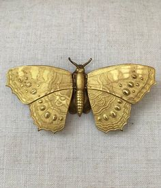 Super Rare Victorian Avery & Son Gilded Butterfly Needlecase