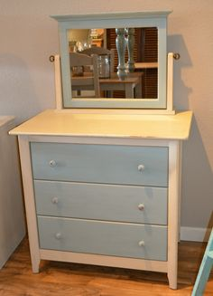 Idea for dresser in foyer. Living at the beach wants me to make everything light and airy