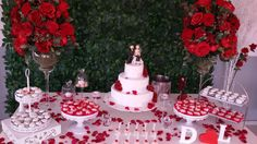 Resultado de imagem para decoração de noivado vermelho e branco provençal