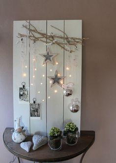 Holiday decor for work.  Clips for cards.  Hanging ornaments.