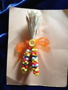 Handmade Indian Corn Pin - pinned by pin4etsy.com