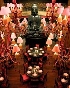 In a central location, Buddha Bar Hotel is a natural gathering spot for Prague's glitterati. #Jetsetter