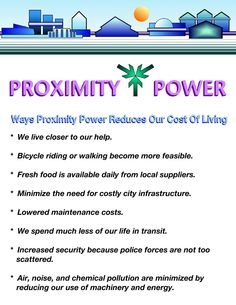 These principles of proximity power are a way of building pedestrian friendly cities that help keep us healthier.