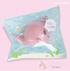 Say Hello to Millie the pink whale, a cute whale produced by i-bloom that is so kawaii! Millie likes to swim around and explore the sea ~ It is super squishy like the I-bloom peach, and scented like peach as well! Comes licensed, authentic and in packaging.