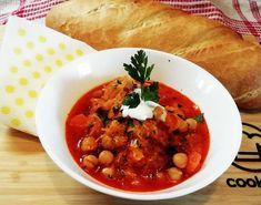 Csicseriborsós káposztaleves Chana Masala, Thai Red Curry, Soup, Ethnic Recipes, Bulgur, Red Peppers, Soups