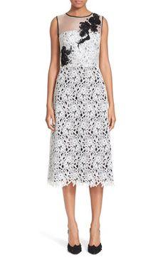 Oscar de la Renta Embellished Floral Lace Dress available at #Nordstrom