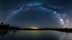 night sky over Lake Cuyamaca