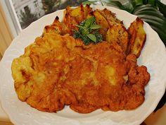 *Záhorácke rezne*  Prvý sychravý jesenný víkend som trávila v Prahe, kde som teraz doma a chcela som si pripomenúť kuchyňu mojej mami. K nej samozrejme patria záhorácke rezne s pečenými zemiakmi, tatárskou omáčkou a uhorkovým šalátom. Nie je to nič svetoborné, ale tá chuť! Mňááám.....
