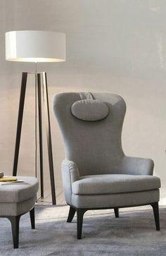 JAB diva armchair with headrest