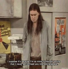 Neil being boring British Comedy, Neil Young, Young Ones, Movie, Books, Image, Libros, Film, Book