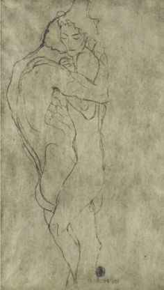 Gustav Klimt. Lovers 1908